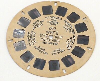 View-Master Reel # 265 White Mountains New Hampshire Hand Lettered viewmaster