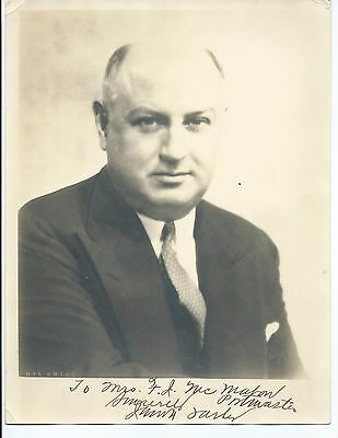 50th UNITED STATES POSTMASTER GENERAL JAMES FARLEY SIGNED PHOTOGRAPH