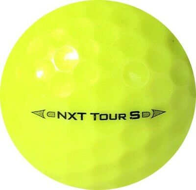 36 TRULY MINT 5A YELLOW Titleist NXT Tour S *Mixed Years* FREE SHIPPING