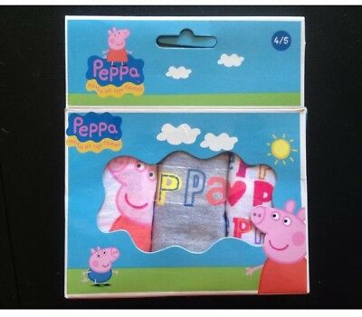 3 Peppa pig underwear knickers pants girls age 4 5 underpants NEW childrens gift