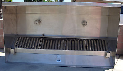 """Ventmaster-Cyclovent 48""""X 86""""X 24""""Stainless Steel Hood/Washable Filters"""