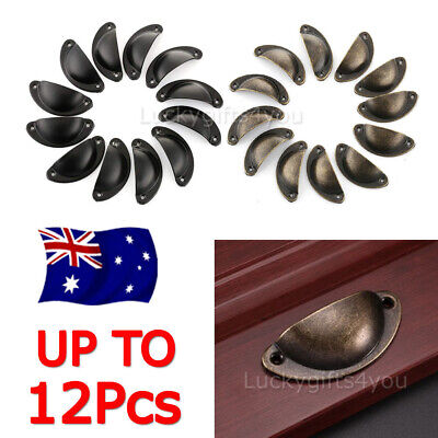 New Retro Vintage Shell Cupped Cup Pull Wardrobe Drawer Cupboard Knobs Handles H