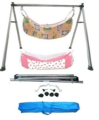 Baby Cradle, Cote, Swing made of steel material with two  cotton hammocks KR85
