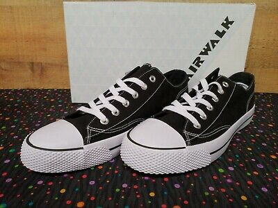 8913b9b930 AIRWALK MEN S LEGACEE Sneaker High-Top Black White Canvas Size US 9 ...
