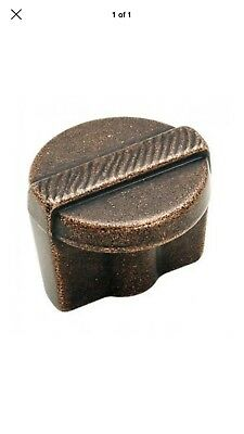"Amerock BP4427RBZ Forgings Etched Knob, 1-1/4"", Rustic Bronze Ships Fast"