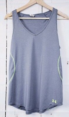 a9fd6ce1b1df1 Under Armour Women s Loose Fit Sz M Tank Top Gray V-Neck Heat Gear Workout