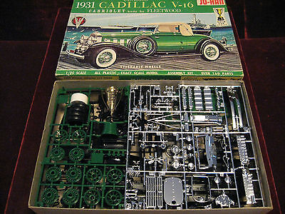 MINT Orig 1965 '31 Cadillac V-16 Cabriolet Fleetwood JO-HAN USA Model/Kit GC431!