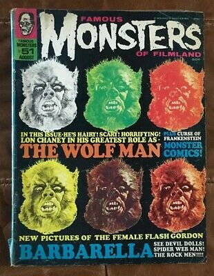 FAMOUS MONSTERS OF FILMLAND No 51 - AUG 1968 - WARREN MAGAZINE - GOOD