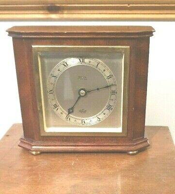 VINTAGE Elliott 8 day  Clock  with a platform in Mahogany case MADE IN ENGLAND