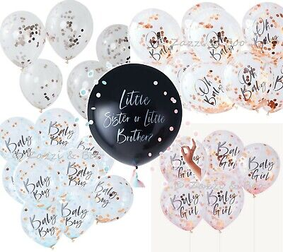 Oh Baby Shower ROSE GOLD Baby Girl Boy Latex Confetti Balloons Party Decorations