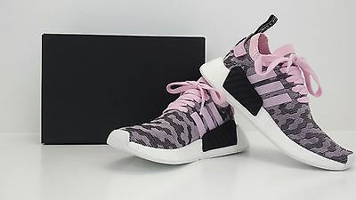 low priced 64c41 4cd81 Adidas Women s NMD R2 PK Primeknit Nomad Wonder Pink BY9521 - BRAND NEW IN  ...