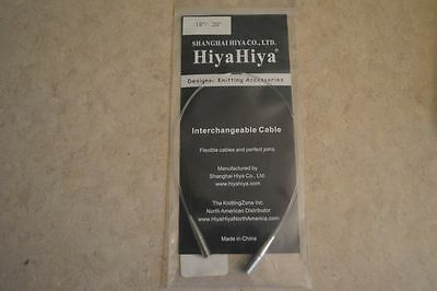 "HiyaHiya Interchangeable Cable Large 18""/20"" fits tips US 9-15"