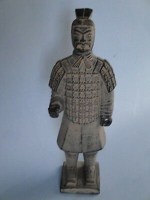 Vintage Chinese Terracotta Clay Warrior Soldier Figurine Statue Replica