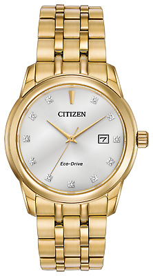 Citizen Men's Eco-Drive CORSO Gold-Tone Watch With Diamond Accents
