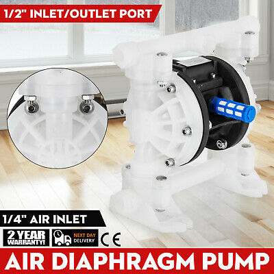 "1/2"" Air Driven Double Diaphragm Pump Fast Divery 74 dBa Polyethylene Body"