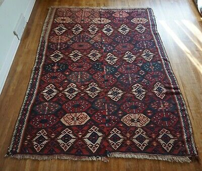"Antique Persian Kilim 5'6""x7'6"""