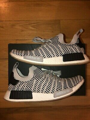 8123e7189f8c7 Adidas NMD R1 PK STLT Grey CQ2387 Men s Boost Primeknit Core Black White Sz  10.5