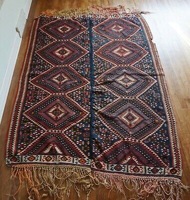 Antique Persian Kilim 5'x6'10""
