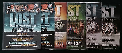 LOST Series Inkworks Premium Trading Card sell sheets - Season 1 2 3 Revelations