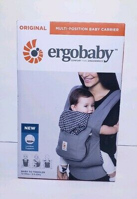 df3be2a72ab Ergo Baby Original Ergonomic Multi-Position Baby Carrier - STEEL PLAID BRAND  NEW