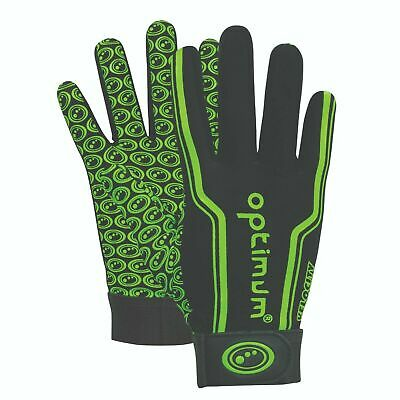 Optimum Velocity Thermal Rugby Gloves - Size XL Black / Green