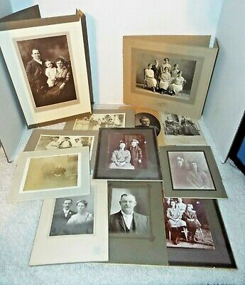 Vintage Family Portraits Photographs Late 1800's - Early 1900's lot of 12