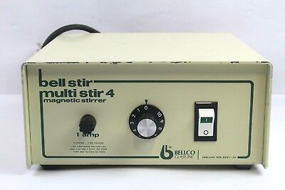 Bellco Multi Stir 4 7760-06005 4 Place Magnetic Laboratory Stirrer