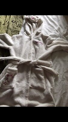 girls white dressing gown age 2-3 years