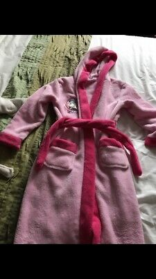 Girls pink Minnie Mouse dressing gown age 7-8 years