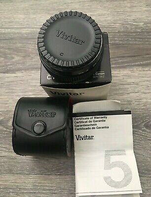 Vivitar MC Tele Converter 2X-4 Camera Lens with Caps & Case FL FD