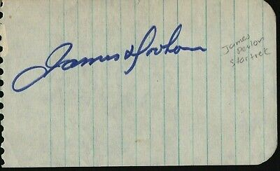 JAMES DOOHAN Hand Signed Autographed Clip w/COA - STAR TREK - SCOTTY