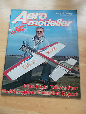 Aeromodeller With Radio Control Model Aircraft Mag Mar 1980 Centrespread Plan