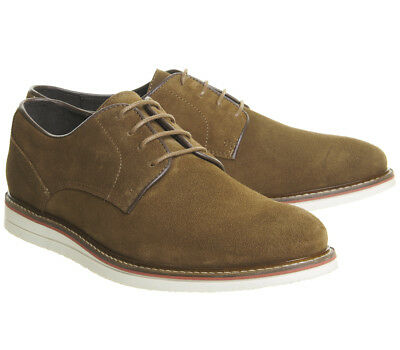 Ask the Missus Generate Wedge Derby Rust Suede Mens Shoes UK Size 12