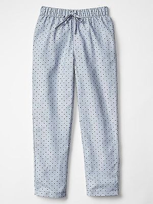 Nwt Gap Kid's Girl's Grey Matter Polka Dot Pj Bottoms 100% Polyester