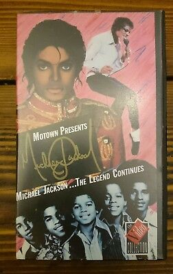 MOTOWN PRESENTS MICHAEL JACKSON: THE LEGEND CONTINUES-1988 VHS Music Documentary