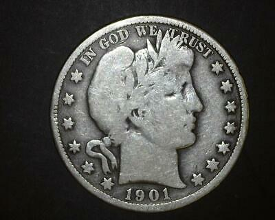1901 Barber Half-Dollar   Very Good    ~393315-Lb6Ra15