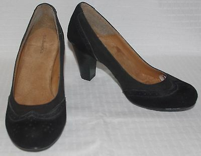 01ffa27bba730 GH BASS WOMENS Malina Black Leather & Suede Wingtip Pumps Sz 5M
