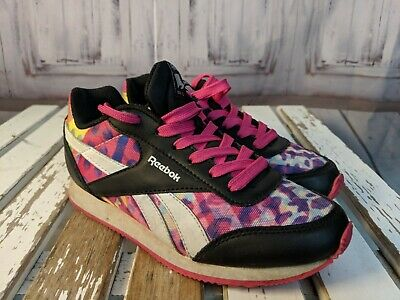 Reebok youth girl kids shoes sneakers 2 comfort casual  pink rainbow colorful