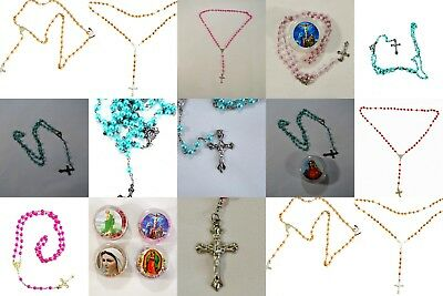 6Wholesale Lots Of 6 pieces Crystal Pearl Beads Rosary Long Necklace : SET OF 6