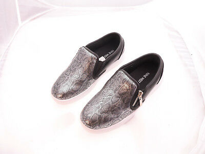Nine Black/Metallic Snake Girls' Nine West Kids Deirdrah Slip-on US 4Youth