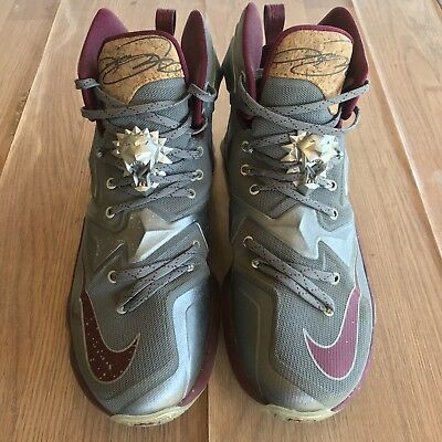 new style c7d82 3a896 Nike Lebron 13 Limited Basketball Shoes Men s Size 8 1 2 Grey Garnet  Athletic
