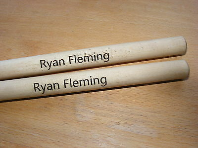 Personalised Engraved Pair Drumsticks 5A Drummer Birthday Gift Idea Drum Sticks