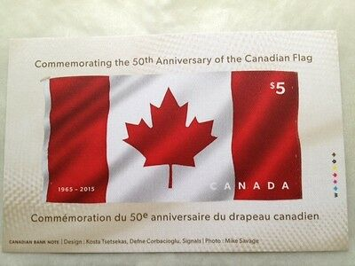 2015 Canadian Flag 50Th Anniversary Souvenir Sheet $5 Stamp Mnh