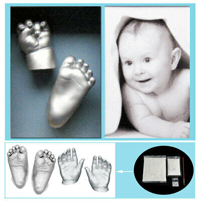 3D Plaster Handprint Footprint Baby Mould Hand&Foot Casting Prints Kit Cast  ❤