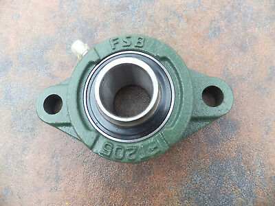 "1/"" Bore Hole 2 Bolt Down Flange Mount Ball Bearing HLU FL205 New"