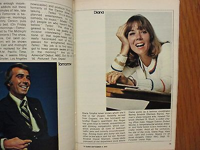 1973 FALL PREVIEW TV Guide(DIANA RIGG/THE  SIX MILLION  DOLLAR MAN/THE  MAGICIAN
