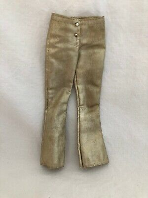 Vintage Barbie Doll Fashion Outfit 3354 GLOWIN Glowing GOLD LAME PANTS