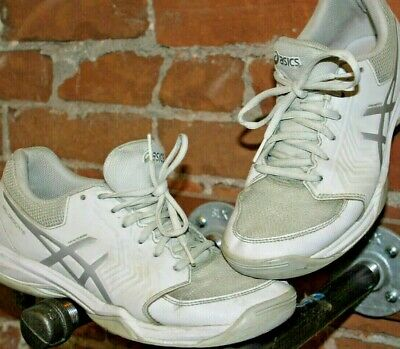 0eb3accd89486 ASICS size 8.5 Ladies White Running Shoe Sneaker - preowned worn