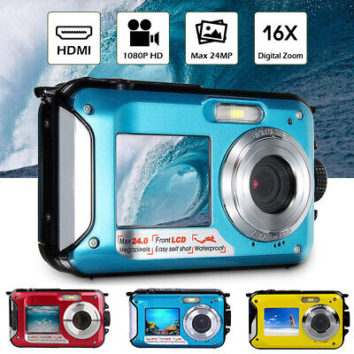Double Screen Underwater Camera Sports Diving Digital Video Waterproof Camcorder