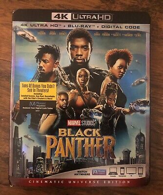 Black Panther (4K UHD + Blu Ray + Digital) 2018 **w/ SLIP COVER ** FREE SHIPPING